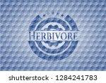 herbivore blue badge with... | Shutterstock .eps vector #1284241783