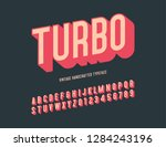 turbo vintage handcrafted 3d... | Shutterstock .eps vector #1284243196