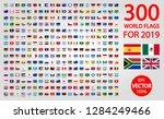 300 world flags for 2019 | Shutterstock .eps vector #1284249466