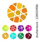 design round logo element.... | Shutterstock .eps vector #128424986