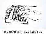 lcd macbook keypad on white... | Shutterstock .eps vector #1284253573