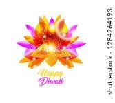 happy diwali indian vector... | Shutterstock .eps vector #1284264193
