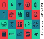 hardware icons set with video... | Shutterstock .eps vector #1284264460
