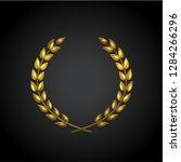 golden laurel wreath vector... | Shutterstock .eps vector #1284266296