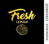 fresh lemon vector illustration.... | Shutterstock .eps vector #1284268639