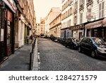 paris  france   july 07  2018 ... | Shutterstock . vector #1284271579