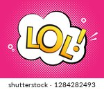 lol text speech label icon. pop ...   Shutterstock .eps vector #1284282493