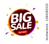 big sale speech bubble banner... | Shutterstock .eps vector #1284282523