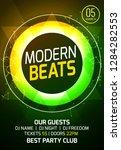modern techno party music... | Shutterstock .eps vector #1284282553