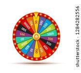 wheel fortune casino game....   Shutterstock .eps vector #1284282556