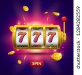 lucky seven 777 slot machine.... | Shutterstock .eps vector #1284282559