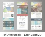 roll up banner stands  abstract ...   Shutterstock .eps vector #1284288520
