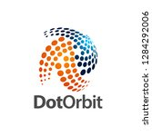 circular dot orbit logo concept ...   Shutterstock .eps vector #1284292006