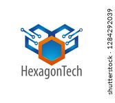 hexagon technology logo concept ...   Shutterstock .eps vector #1284292039