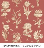 botanical seamless pattern for... | Shutterstock .eps vector #1284314440
