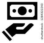 hand holding dollar vector icon | Shutterstock .eps vector #1284322243