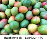 bunch of mangoes. photo image | Shutterstock . vector #1284324490