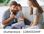happy family mother  father and ... | Shutterstock . vector #1284332449