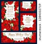 mother day spring flower... | Shutterstock .eps vector #1284332719