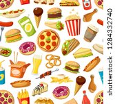 fastfood meals vector seamless... | Shutterstock .eps vector #1284332740