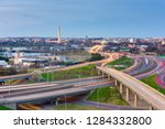 washington  d.c. skyline with... | Shutterstock . vector #1284332800