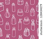 seamless pattern of perfume... | Shutterstock .eps vector #128434079