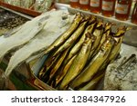 salted fish in the covered... | Shutterstock . vector #1284347926