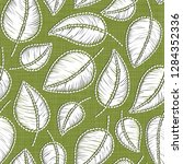 embroidery floral seamless... | Shutterstock . vector #1284352336