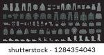 set of man s and women s... | Shutterstock .eps vector #1284354043