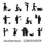 set of pictograms representing...   Shutterstock .eps vector #1284354559