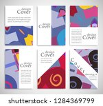 set of a4 cover  abstract...   Shutterstock .eps vector #1284369799