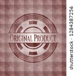 original product red geometric...   Shutterstock .eps vector #1284387256