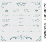 decorative calligraphic... | Shutterstock .eps vector #1284389890