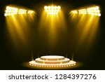 yellow stage lighting... | Shutterstock .eps vector #1284397276