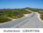 Empty road in Rotnest island