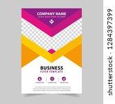 business poster flyer template... | Shutterstock .eps vector #1284397399