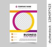 business poster flyer template... | Shutterstock .eps vector #1284397423