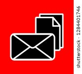mail newsletter line icon. read ... | Shutterstock .eps vector #1284401746