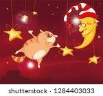 a midsummer night's dream  a... | Shutterstock .eps vector #1284403033