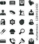 solid black vector icon set  ... | Shutterstock .eps vector #1284411430