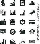 solid black vector icon set  ... | Shutterstock .eps vector #1284411610