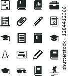 solid black vector icon set  ... | Shutterstock .eps vector #1284412366