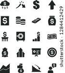 solid black vector icon set  ... | Shutterstock .eps vector #1284412429