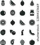 solid black vector icon set  ... | Shutterstock .eps vector #1284415669