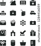 solid black vector icon set  ... | Shutterstock .eps vector #1284416059