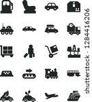 solid black vector icon set  ... | Shutterstock .eps vector #1284416206
