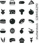 solid black vector icon set  ... | Shutterstock .eps vector #1284416290