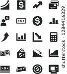 solid black vector icon set  ... | Shutterstock .eps vector #1284416329