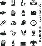 solid black vector icon set  ... | Shutterstock .eps vector #1284416710