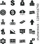 solid black vector icon set  ... | Shutterstock .eps vector #1284416740